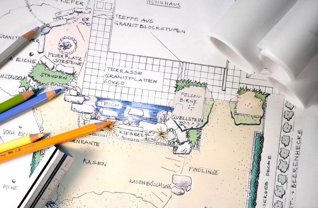 Ideen und Planung für Terrassen und Sitzflächen im Garten