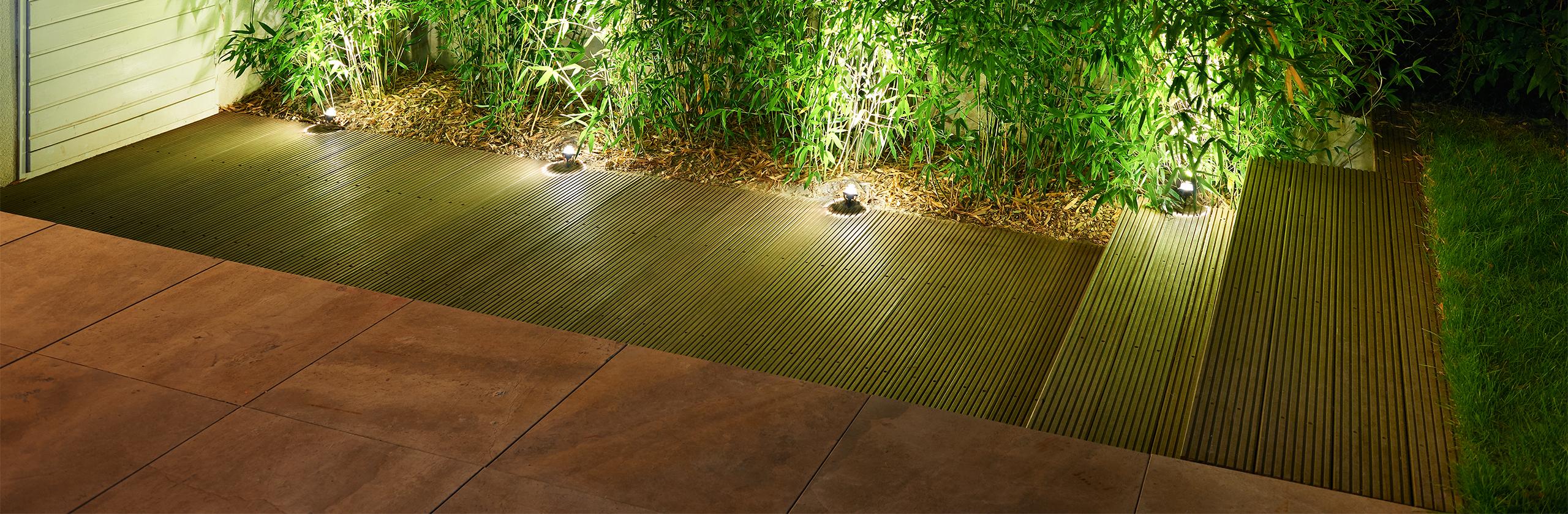 Gartenbeleuchtung mit Bodenleuchten