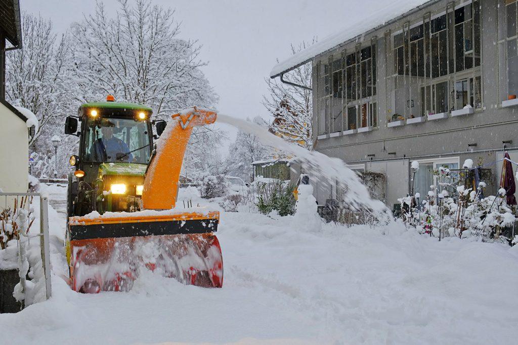 Professionelle Winterdienst Ausstattung